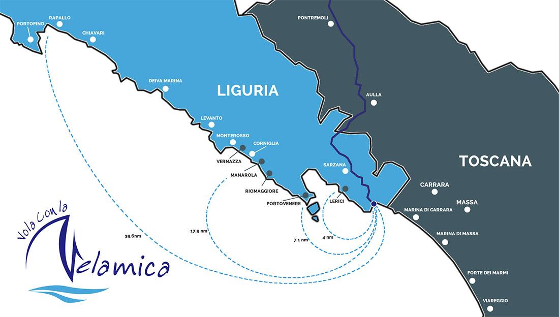 Cartina Itinerari Velamica